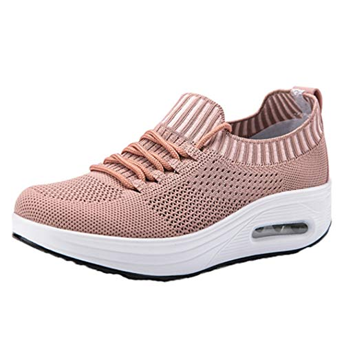 Malla de Fondo Grueso Air Cushion Rocker Shoes Transpirable Ocio Moda Mujer Outdoor Travel Sport Shoes