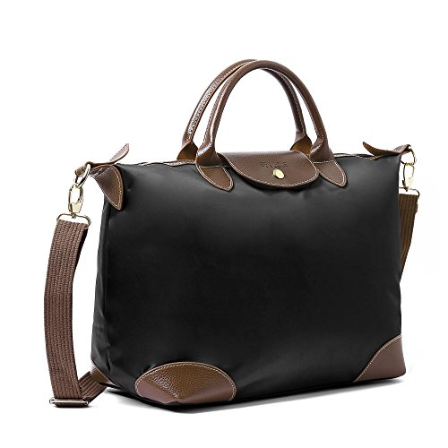 Beach Women Nylon Women's Bags BEKILOLE Tote Bag Waterproof Crossbody Stylish Travel for Black Ww0wHqPTd