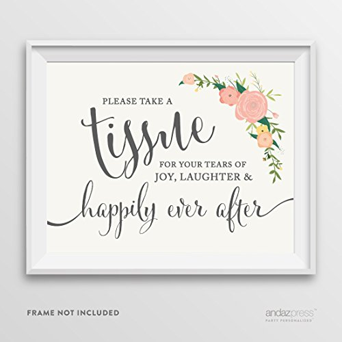 Andaz Press Wedding Party Signs, Floral Roses Print, 8.5-...
