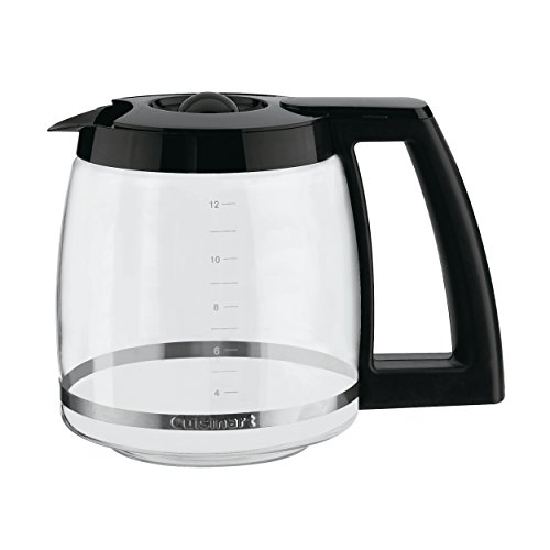 (Cuisinart DCC-1200PRC 12-Cup Replacement Glass Carafe, Black)