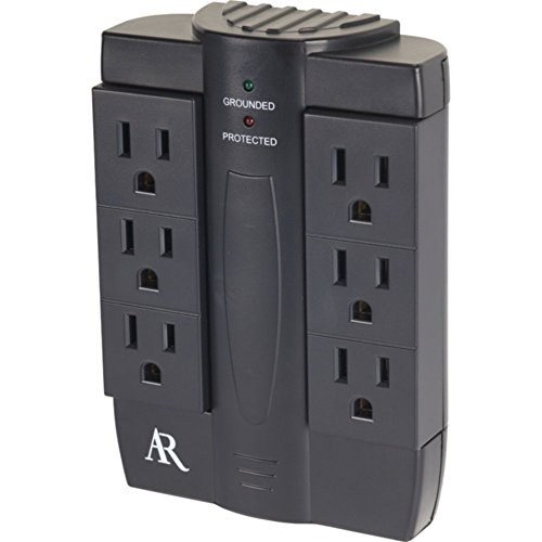 Acoustic AS6 6-Outlet Swivel In-Wall Surge Protector 2100J Electronics Computers Accessories