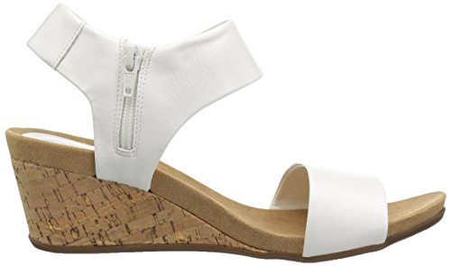 Step Skechers Wedge Ankle Cool Women's Slide White Fashion Casual Sandal Strap Heeled qZwZRE74
