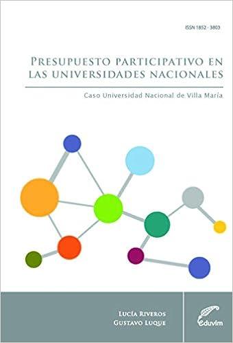 Presupuesto participativo en las universidades nacionales ...