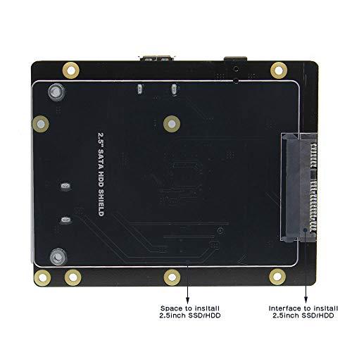 Geekworm X820 V3.0 2.5 inch SATA HDD/SSD Storage Expansion Board w/USB 3.0 Interface + DC 5V 4A Power Adapter w/EU/US Plug Kit for Raspberry Pi 3 Model B+ / 3B / 2B / B+ by Geekworm (Image #3)