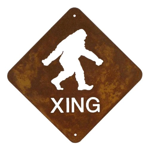 Bigfoot Crossing Steel Wall Sign