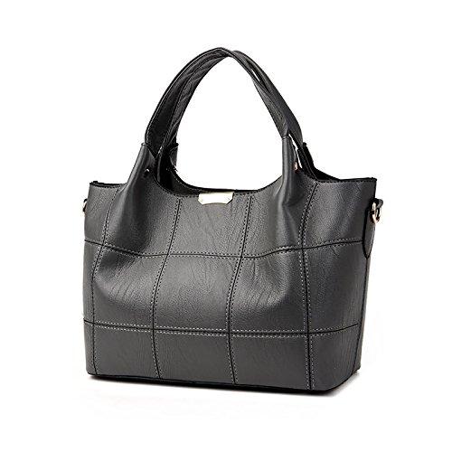 Coolives señoras del diseñador bolsos grandes bolsos de hombro para las mujeres venta en línea Gris