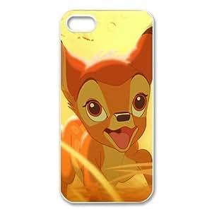 Customize Black White Cartoon Disney Bambi Back For Iphone 5C Case Cover JN -2195
