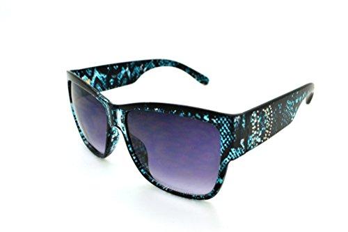 VOX Trendy Classic Womens Hot Fashion Sunglasses w/FREE Microfiber Pouch - Teal Frame - Smoke Lens