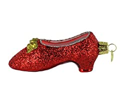 Old World Christmas Ornaments: Red Slipper Glass Blown Ornaments for Christmas Tree