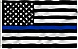 RainRoad 3×5 Foot Thin Blue Line USA Polyester Flag – Vivid Color and Printed Stars and Stripes. – Home Garden Flags with Brass Grommets Review