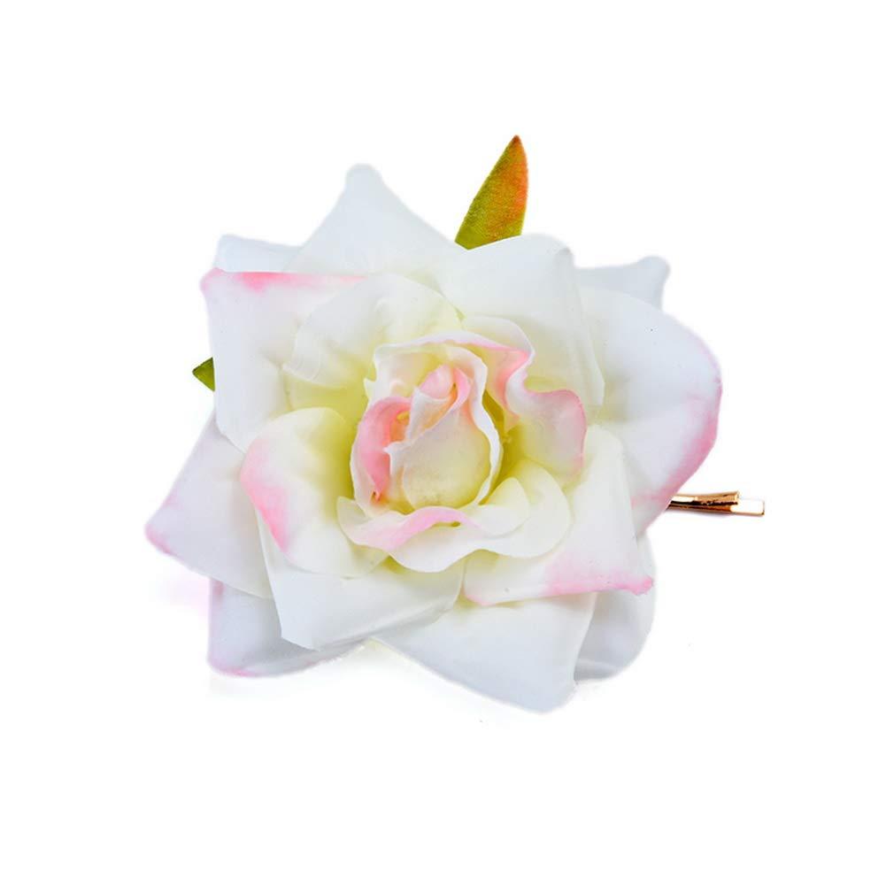 Yazilind Vintage Artificielle Rose Fleur Pince /À Cheveux Banquet Coiffure Accessoires De Cheveux