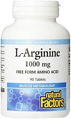 Natural Factors – L-Arginine, Supports Muscle Metabolism, 90 Tablets