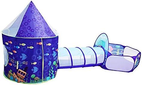 テントとトンネル3 in 1ポップアップテント幼児クロールトンネルプレイハウスボールピット折りたたみテント子供用女の子男の子屋内と屋外用
