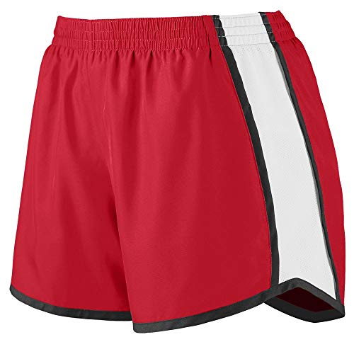 Augusta Sportswear Augusta Girls Pulse Team Short, Red/White/Black, Medium