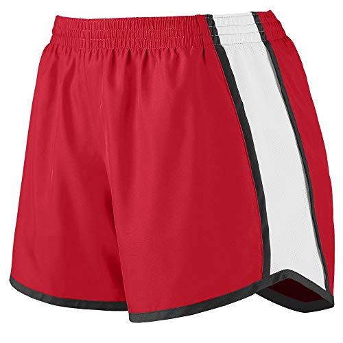 (Augusta Sportswear Augusta Girls Pulse Team Short, Red/White/Black, Medium)