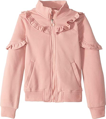 Urban Republic Kids Girl's Selena Fleece Bomber Jacket w/Ruffles (Little Kids/Big Kids) Pink 5-6 from Urban Republic Kids