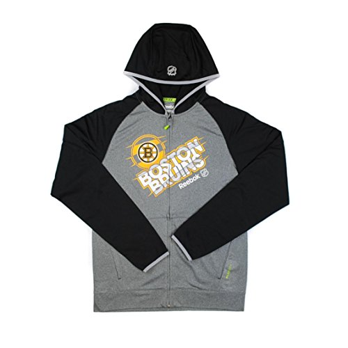 Reebok Men Boston Bruins NHL Center Ice Travel Jacket