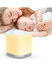Baby Sleep Sound Machine with Night Light, White Noise Machine for Sleeping, 9 Color Bedside Lamp with 34 Soothing Natural Sounds, 1800MAH Battery, Timer and Memory for Kids,Adults,Relaxation,Nursery