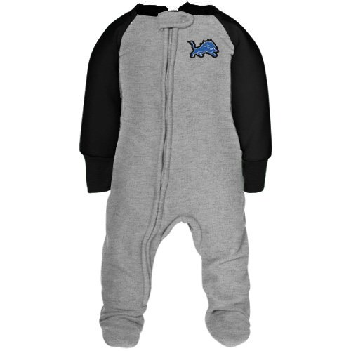 Detroit Lions Toddler Ash-Black Fleece Footed Sleeper (5T) (Lions Toddler Fleece)