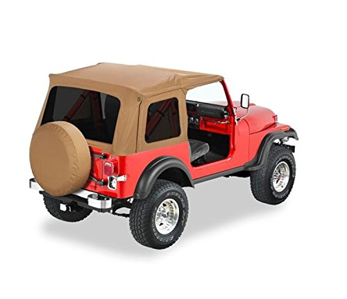 Bestop Hard Upper Doors - Bestop 54599-37 Spice Supertop Classic Replacement Soft Top w/Tinted Windows for 1976-1995 Jeep CJ7 and Wrangler