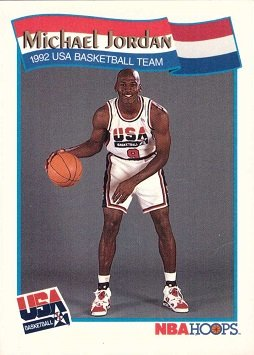 1991-92 NBA Hoops #55 Michael Jordan Team USA Olympic Basketball - Usa Shop Jordan