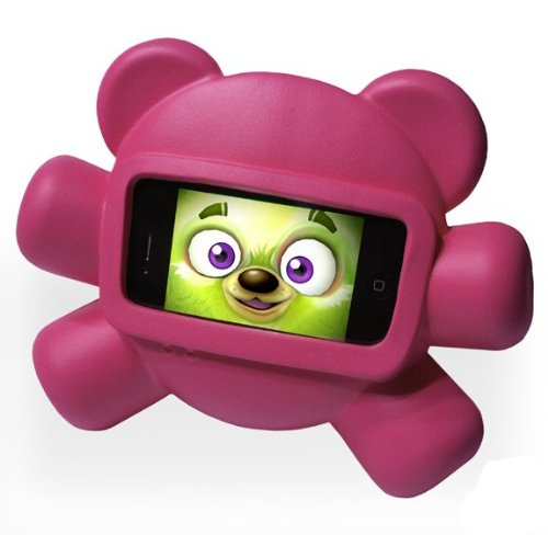 iBuku Pets Huggable Bear Suit Protective Case for iPhone and iPod Touch, Pitahaya Pink