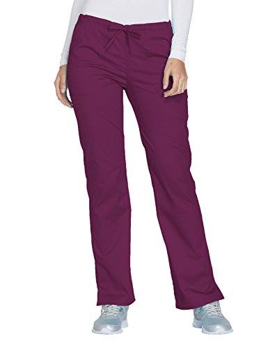 Cherokee Core Stretch by Workwear Women's Drawstring Scrub Pant Small Wine
