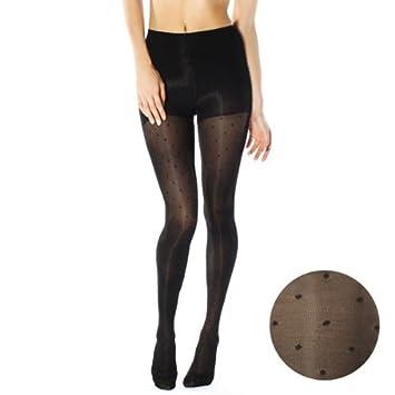 4b2c6fb306 Amazon.com: RejuvaHealth Sheer Dot Pantyhose 15-20 mmHg (black-m ...
