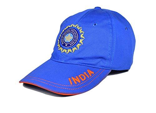 Cricket World Cup Adjustable Cap (X3 Team India Cricket World Cup 2015 Cap - With Logo - Adjustable Size)