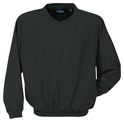 Tri-mountain Microfiber windshirt with nylon lining. 2500 - BLACK_XLT
