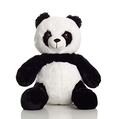 Squirrel Products Panda Bear Cuddle Mates Stuffed Animal Plush Toy – 14 Inch