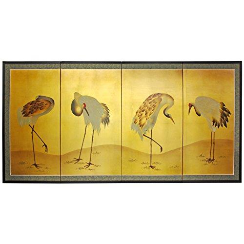 Oriental Furniture Gold Leaf - Leaf Gold Cranes
