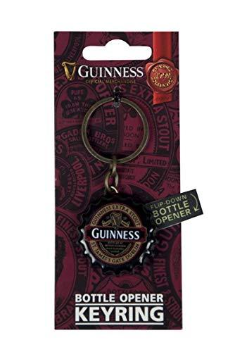 (Guinness Classic Flipdown Cap Keyring Bottle Opener)