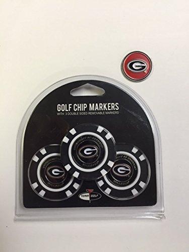 (Team Golf Georgia Bulldogs Poker Chips 3pk with Bonus Marker)