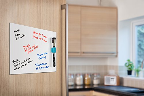Kühlschrank Magnettafel : A4 magnetic whiteboard sheet with marker & marker holder for kitchen