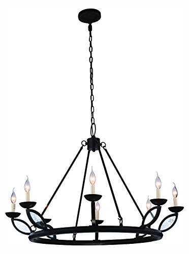 Charleston Collection Pendant Lamp D:43In. H:29In. Lt:8 Vintage Bronze Finis