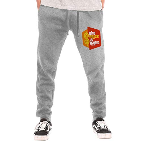 Price comparison product image navely Mens The Price is Right Casual Hip Hop Long Sports Gym Pants for Fitness / Outdoor / Running Training Pant Loose Trousers Gray 3XL