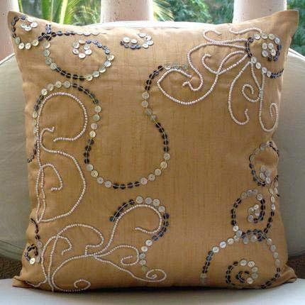 Amazon.com: Diseñador Beige fundas de almohada decorativo ...