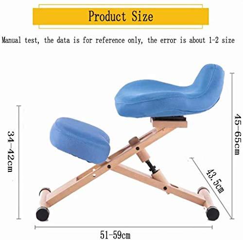 Stol ergonomisk justerbar hållning pall-knäskydd knådning modern bok kontorsmöbler dator lämplig för att skriva spel datorarbete 6 färger tillgängliga, blå