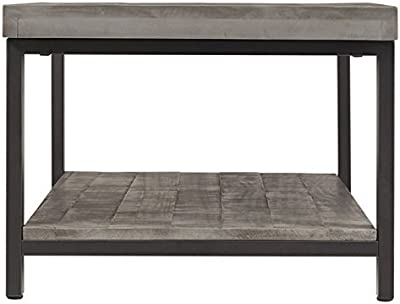 TRIBECCA HOME Cyra Industrial Reclaimed Rectangular Cocktail Table, GreyFinish