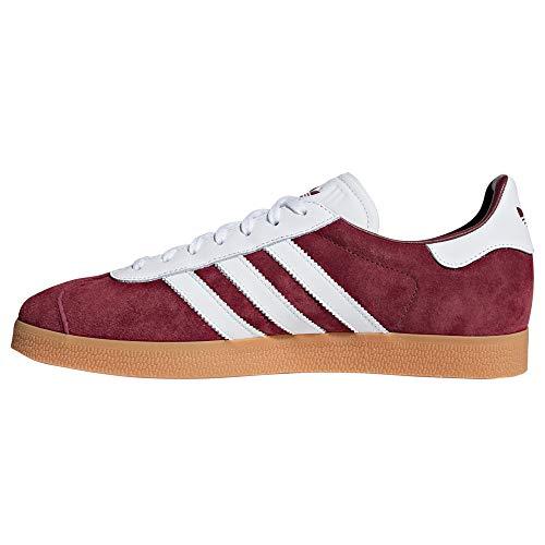 Adidas Gazelle Chaussures Sneaker Trainer White Homme Burgundy white Nobuk HrH7pxdw