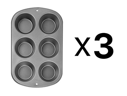 Bulk Buy: Wilton Jumbo Muffin Pan 6 Cup Six Cups Each 4 inchX2 inch W955 (3-Pack)
