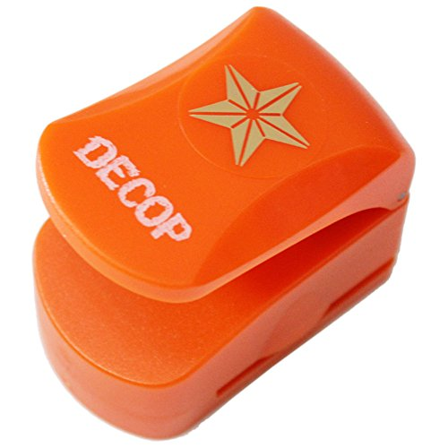 DECOP Embossed Craft Punch 25mm (1inch) 3D Star Small Deco Craft Punch