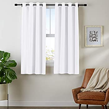 AmazonBasics Room Darkening Blackout Window Curtains with Grommets- 42