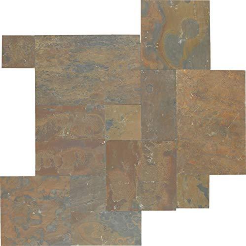 Dal-Tile S700PATTERN1P Slate Tile California Gold 4 x 13 13 Gold Tile Flooring
