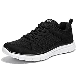 NDB Men's Lightweight Lace-Up Fashion Sneakers Comfortable Go Easy Athletic Running Jogging Walking Shoes (7 D(M) US, Black)