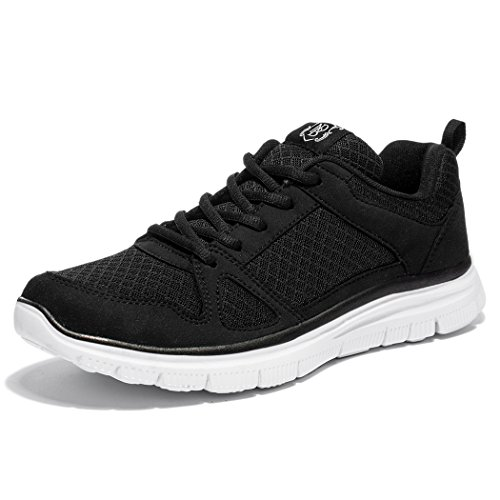 NewDenBer NDB Men's Lightweight Lace-Up Fashion Sneakers Comfortable Go Easy Athletic Running Jogging Walking Shoes (14 D(M) US, Black)