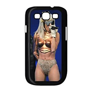 Pop star Lady Gaga Hard Plastic phone Case Cover+Gift keys stand For Samsung Galaxy S3 ZDI074224