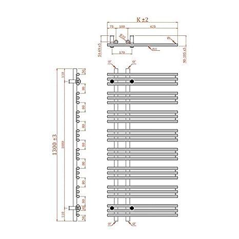 Badheizk/örper,verschiedene Gr/ö/ßen KTX3, 1780h x 600b