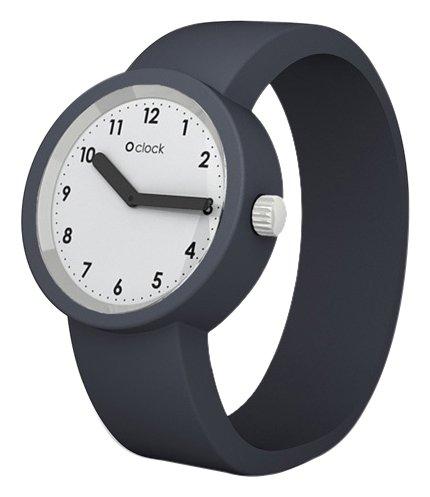 Fullspot O clock OCNW06-L - Reloj analógico de cuarzo unisex con correa de silicona, color gris: Amazon.es: Relojes